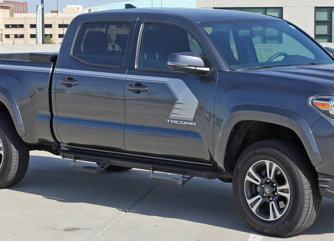 2015 2016 2017 2018 2019 Toyota Tacoma Storm Upper Door Panel Accent Trim Decal 3M Vinyl Graphics Stripe Kit - Details