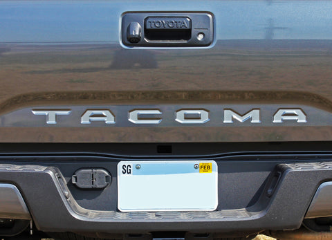 2015 2016 2017 2018 2019 2020 2021 Toyota Tacoma TAILGATE LETTERS Rear Bed Lettering TRD Sport Pro Accent Trim Decal 3M Vinyl Graphics Stripe Kit