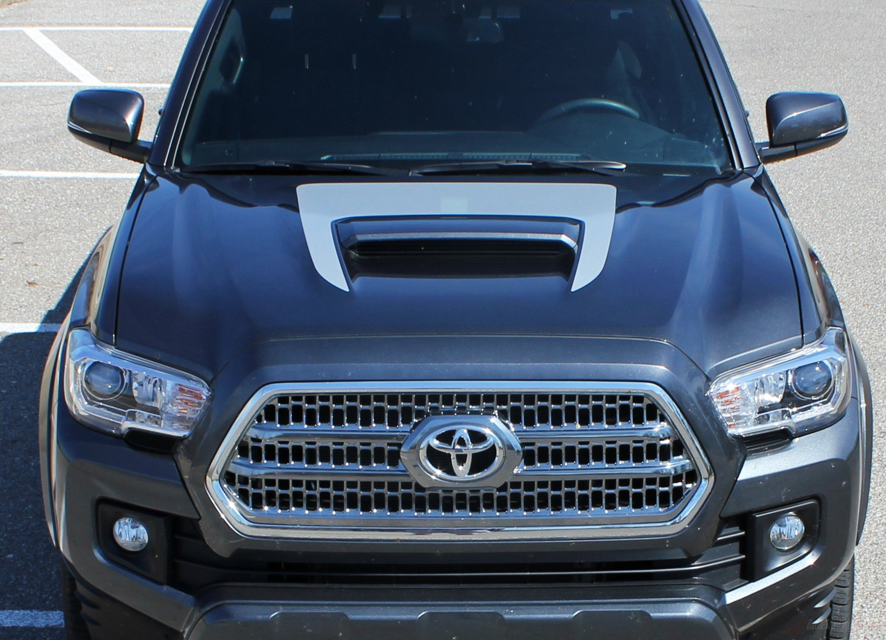 2015 2021 Toyota Tacoma Sport Hood Decal Trd Sport Pro Graphic Stripe Auto Motor Stripes Decals Vinyl Graphics And 3m Striping Kits