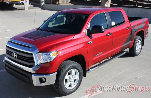 2014 2017 Toyota Tundra Shredder Hood And Truck Bed Decal