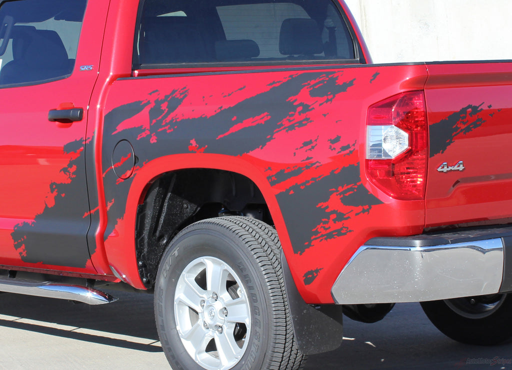 2014-2017 Toyota Tundra Shredder Hood and Truck Bed Decal 3M Vinyl Graphics Striping 3M Kit