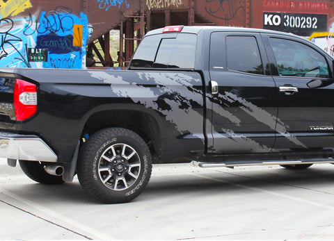 Toyota Tundra Vinyl Graphics FRENZY Side Body Decals and Stripes Striping Graphics Kit