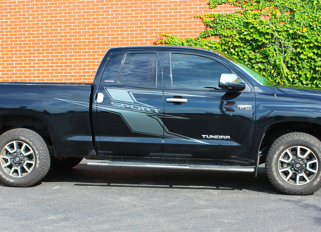 2014-2021 Toyota Tundra Graphics AXIS Side Door Body Decals 3M Vinyl Stripes Striping Graphics Kit