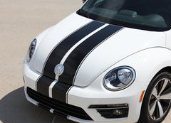 2012-2016 Volkswagen Beetle Rally Bumper to Bumper Racing Stripes 3M Vinyl Graphics Decals
