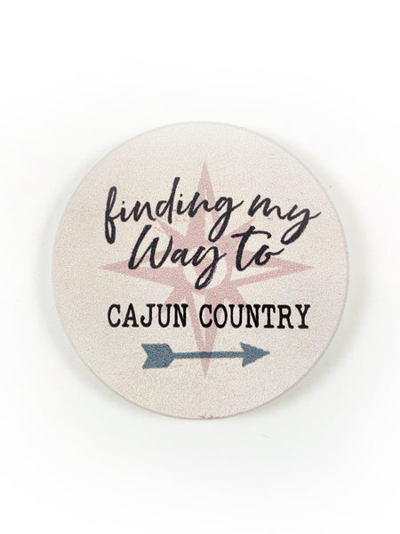 Car Coaster Find my way to Cajun Country