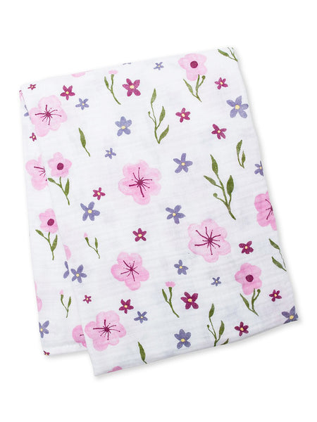 Cotton Muslin Swaddle Blanket - Lovely Flower LJ-433