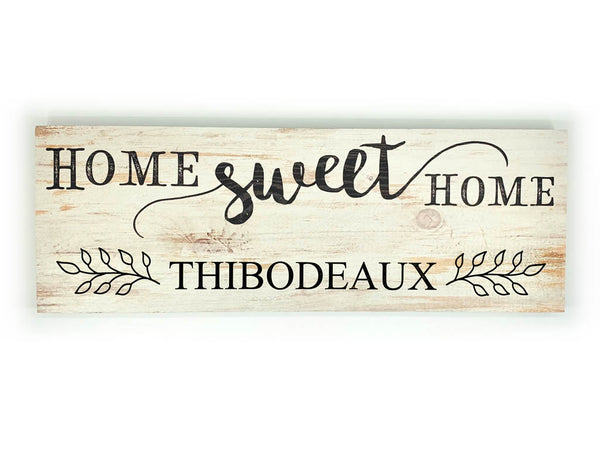 Home Sweet Home Plaque - Last Name