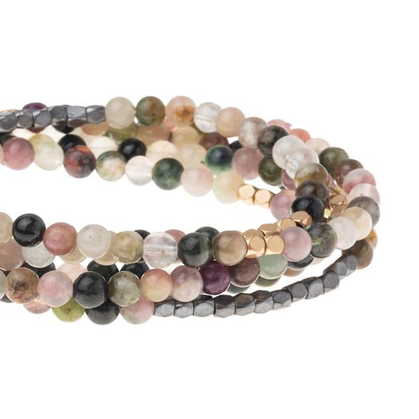 Genuine Stone Wrap Bracelet/Necklace Tourmaline from Scout Curated