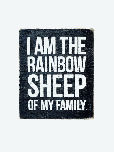 Rainbow Sheep Sign