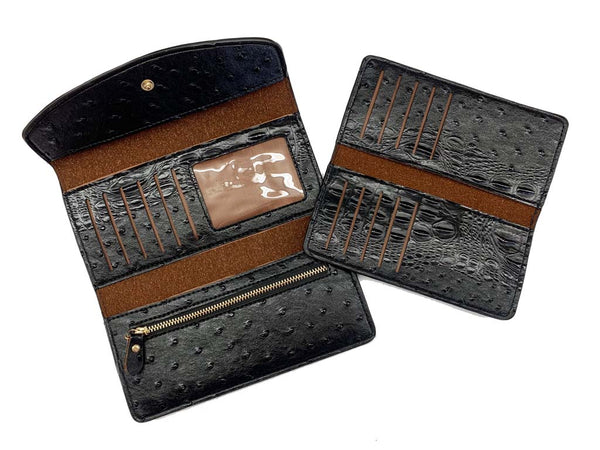 Wallet Black - Alligator Print
