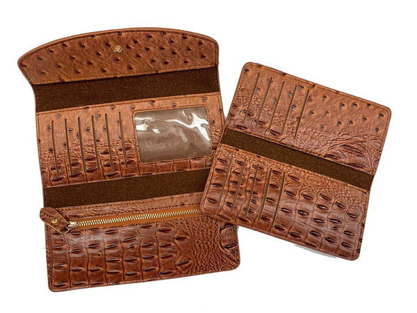 Wallet Brown - Alligator Print