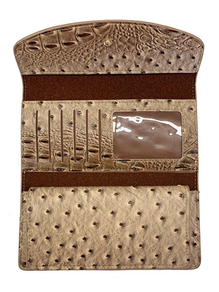 Wallet Tan - Alligator Print