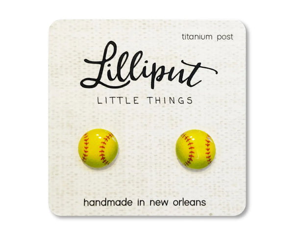 Softball Earrings by Lilliput Little Things