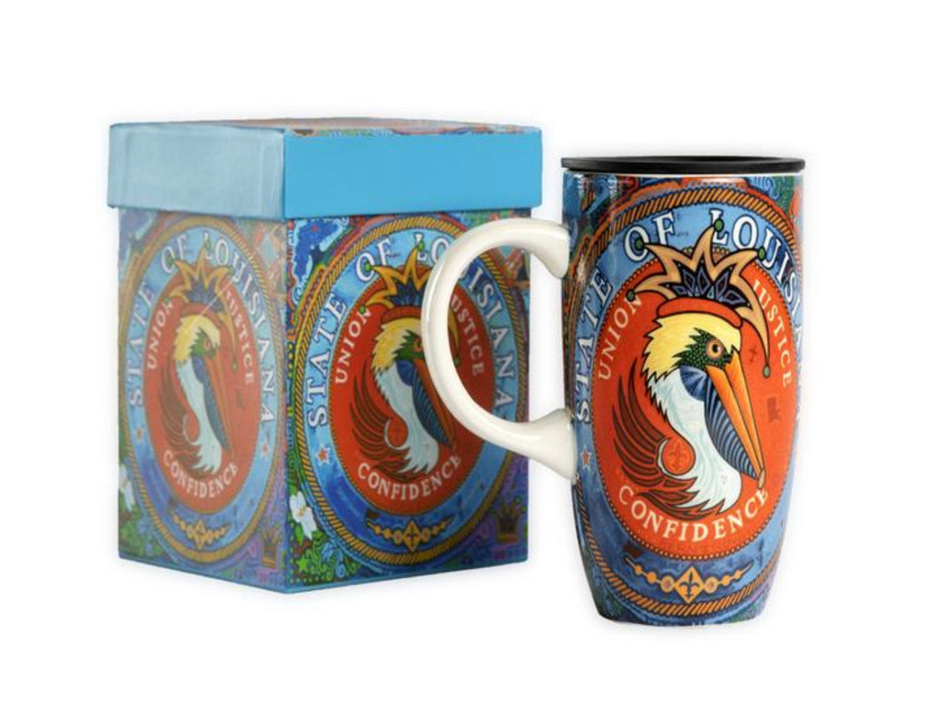 King George the Pelican with State Seal Travel Mug
