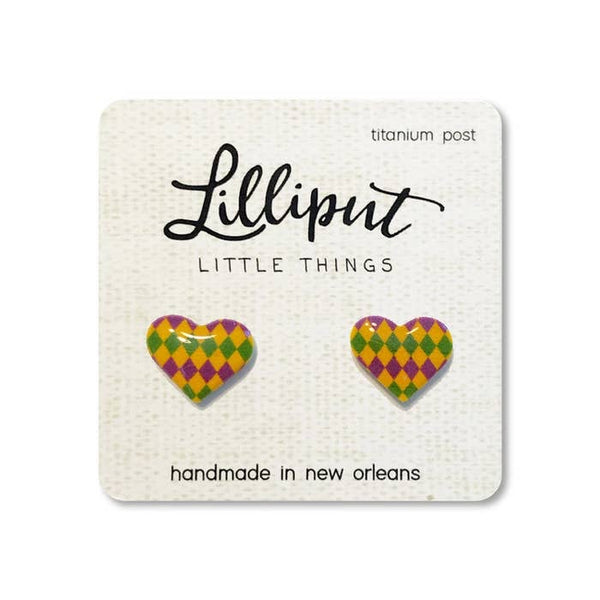 Hearts Mardi Gras Harlequin Diamonds by Lilliput Little Things