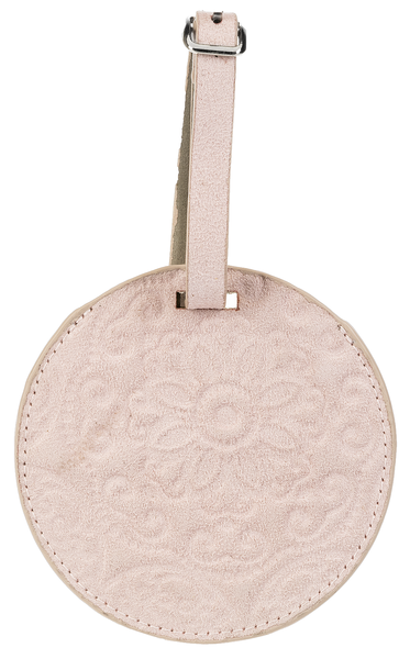 Luggage Tag - Pale Pink Medallion