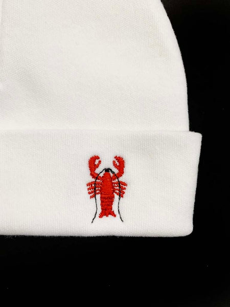 Cotton Beanie with Crawfish