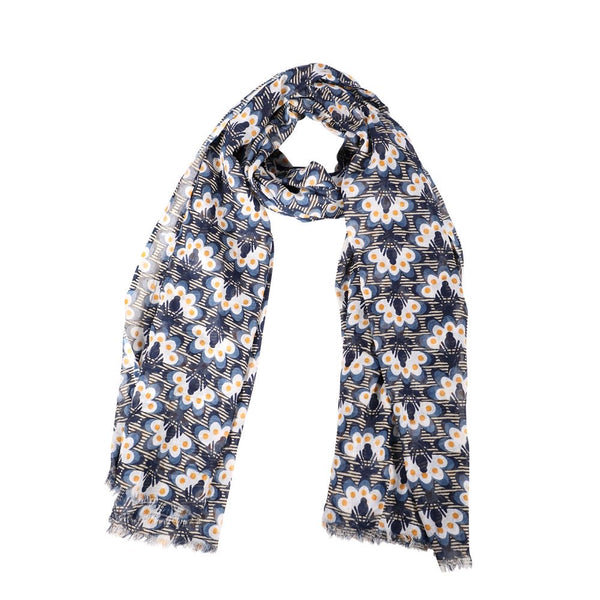 Scarf - Abstract Peacock Floral pattern