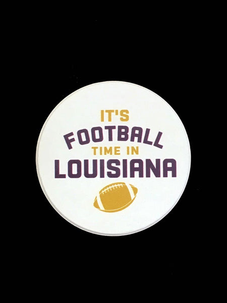 Sand Coaster It's Football Time in Louisiana