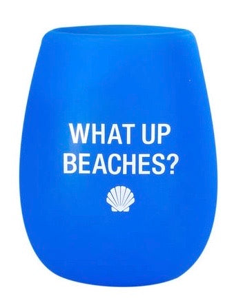 Silicone Wine Glass - What Up Beaches