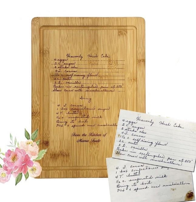 RECIPE Bamboo Cutting Board A
