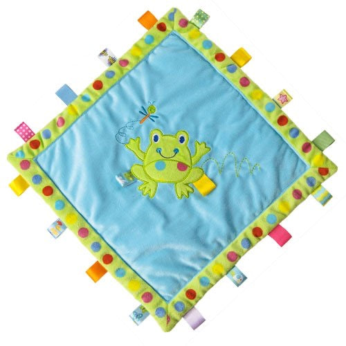 Spotty Frog Taggies Cozy Blanket