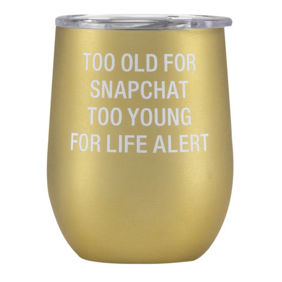 To Old for Snapchat Stainless Steel  Tumbler