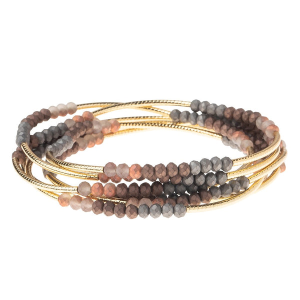 Wrap Bracelet/Necklace Tri Tone Matte Metallic from Scout Curated