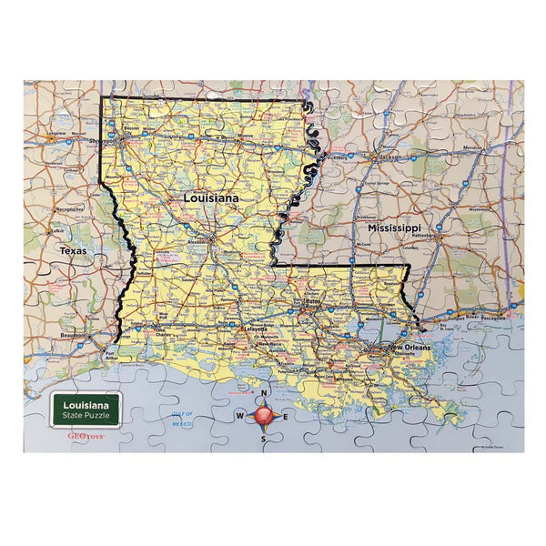 Louisiana State Magnet Puzzle
