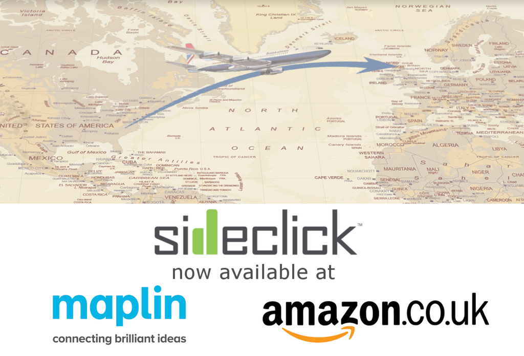 Sideclick is now available in Maplin stores across the UK