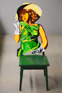 Lady In Green Chair