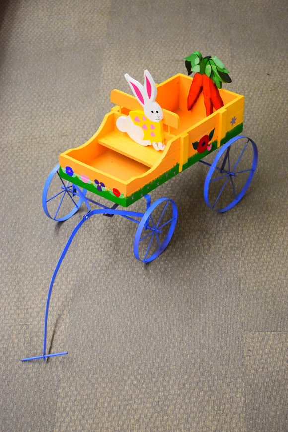 Flower Bunny Wagon