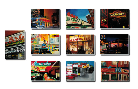 Chicago Restaurants (Set of 10)