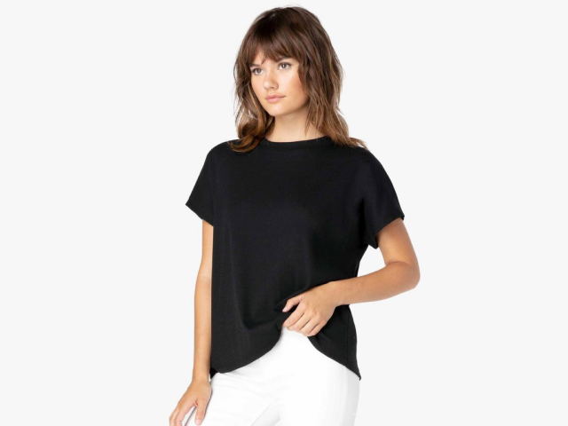 Beyond Yoga Split Back Ribbed Tee