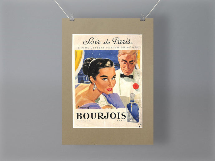 1950's Bourjois Purfume Original French Advert