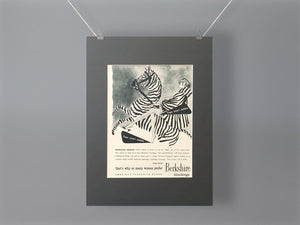 1956 Berkshire Stockings Mounted Advert