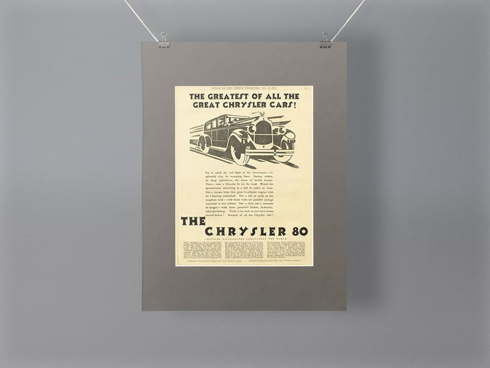 1928 Chrysler 80 Mounted Advert