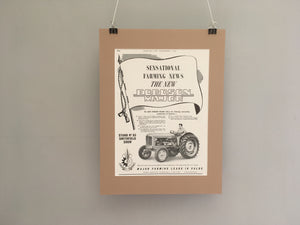1964 Fordson Major Mounted Advert