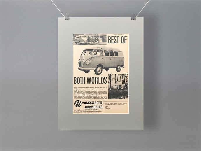 1962 VW Dormobile Original Advert