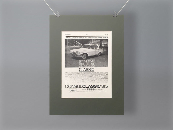1961 Ford Consul Classic Original Advert