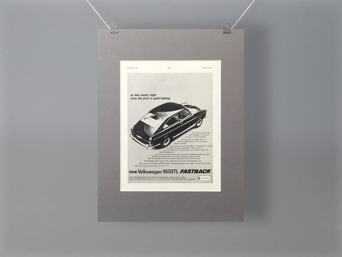 1965 Volkswagen 1600TL Fastback Original Advert