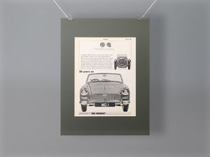 1964 MG Midget Original Advert