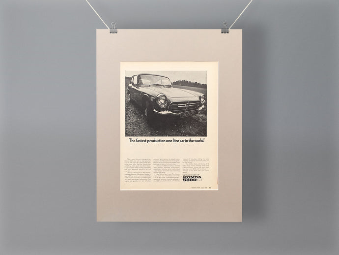 1968 Honda S800 Mounted Advert