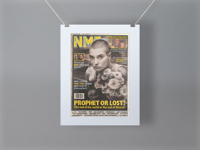 Sinead O'Connor NME Front Cover Mounted Print