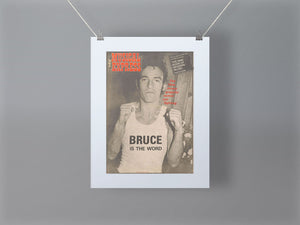 Bruce Springsteen NME Front Cover Mounted Print