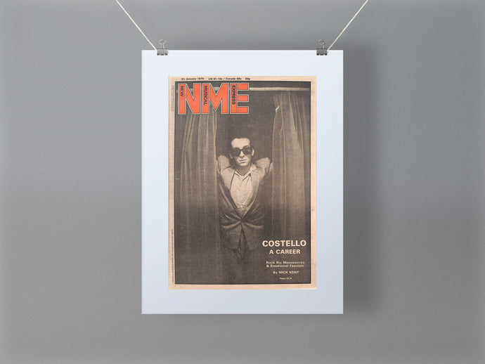 Elvis Costello NME Front Cover Mounted Print 1979