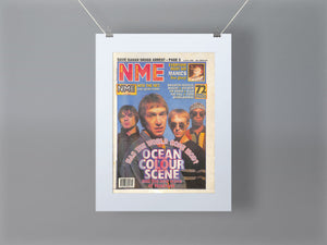Ocean Colour Scene NME Front Cover Mounted Print