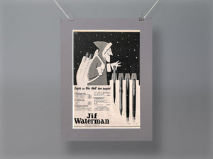 1950's Jif Waterman Pens Original French Advert