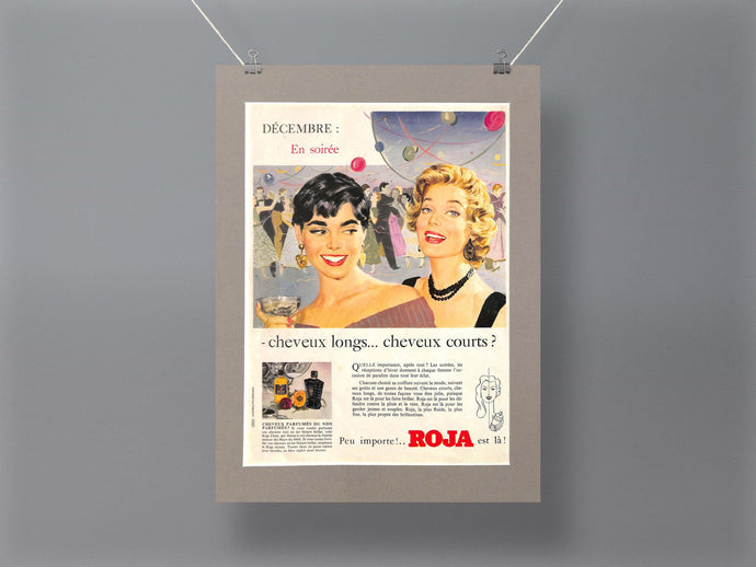 1950's Roja Parfumes Original French Advert