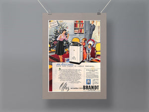 1950's Brandt washing machines Original French Advert